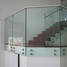Side mount glass stairs railing with patch fitting
