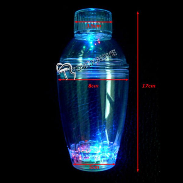 13 LED flashing ,custom logo shaker bottle, Logo , LED party products,wedding