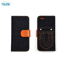 2015 New Trendy Unique Grid Pattern Denim leather Case For LG OPTIMUS L3 DUAL E405F with special stand back up