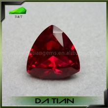 Trillion faceted rose artificial ruby batu ruby merah delima