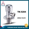 TMOK stainless steel straight angle valve dn 15 stainless steel pneumatic water flow control angle seat valve