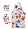 China factory fashion type cotton cooking kitchen apron set for home use with low price