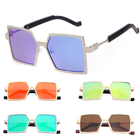 2015 Luxury so real cool funny sunglasses order custom logo metal gold Square frmae sunglasses UV400