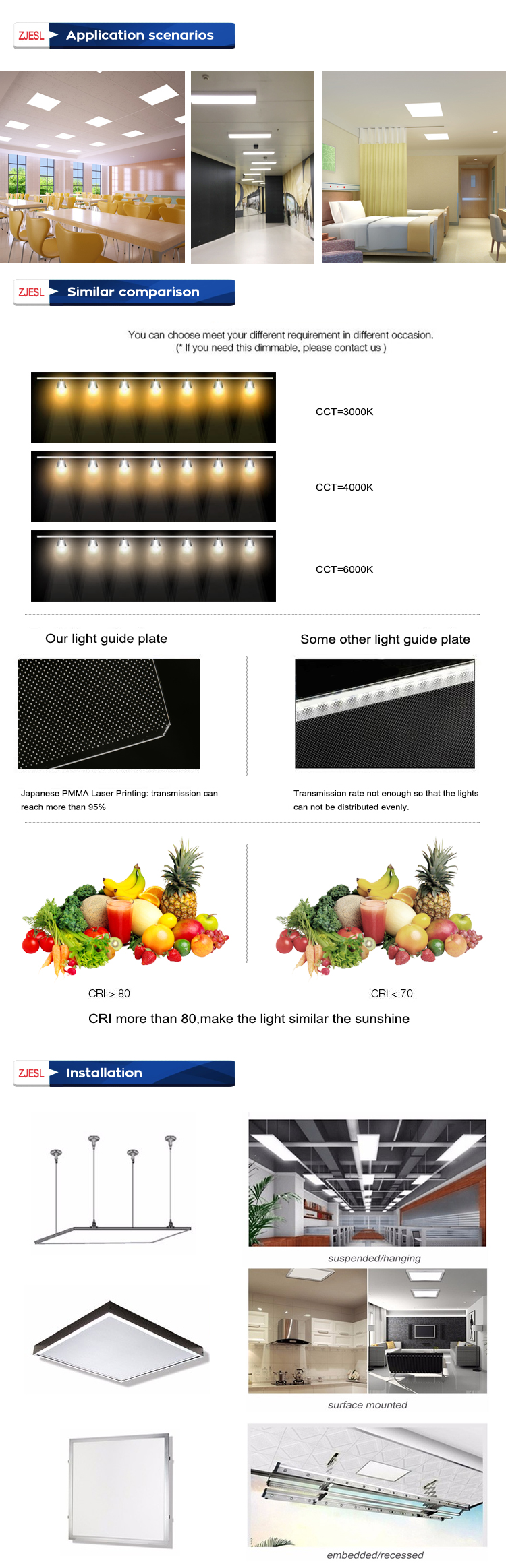 CE RoHS UL SAA listed led panel light slim 300x1200mm 1x4ft 36w 45w 48w square flat led panel ceiling lighting