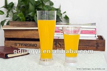 800ml & 450ml plastic transparent juice cup with led