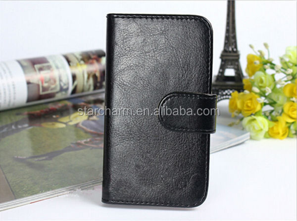 Luxury Durable PU Leather Wallet Case for Blackberry Q30