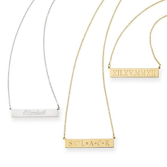 ID Necklace, Roman Numerals custom engravedf bar necklace.jpg