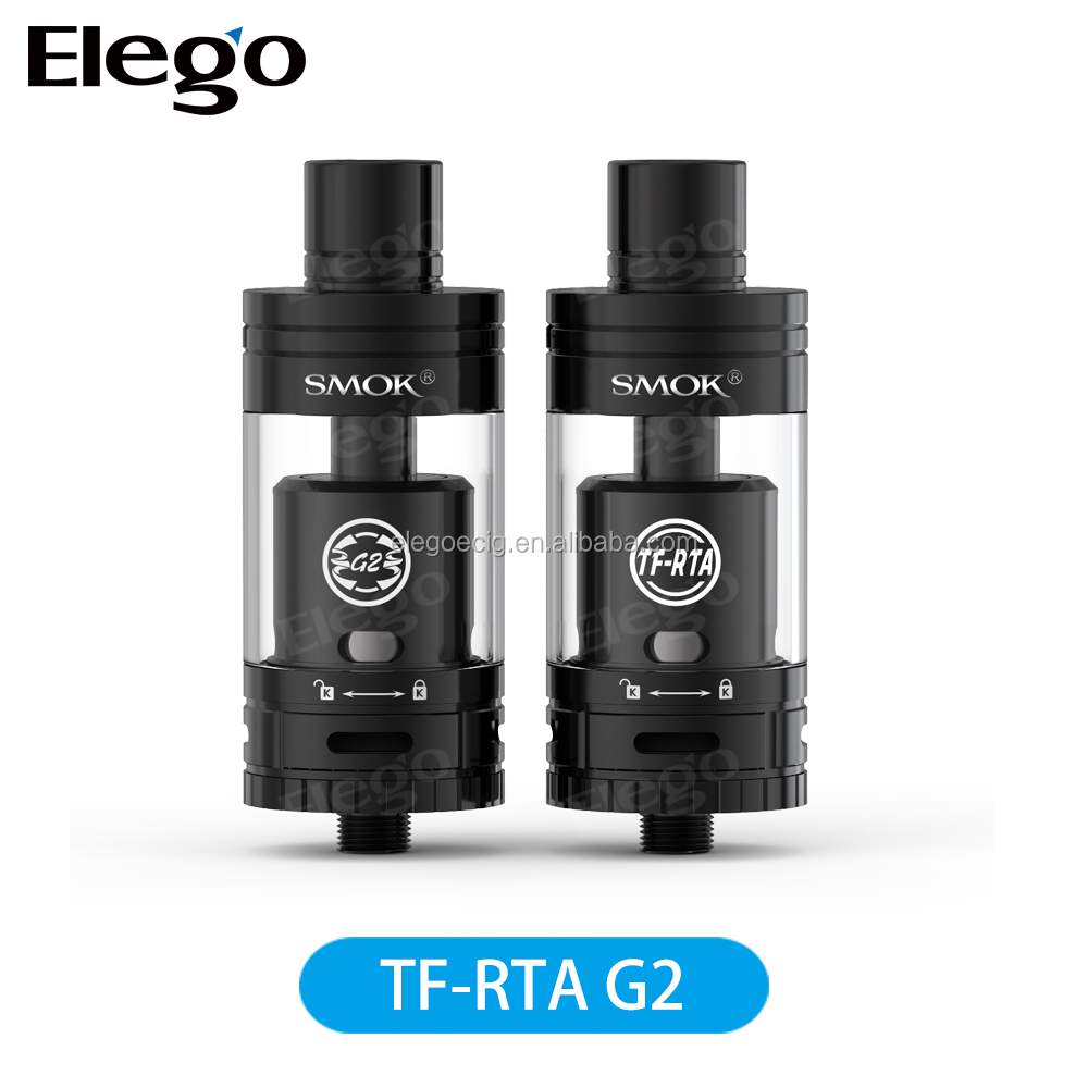 Authentic Smoktech TF-RTA tank atomizer G2 Stock wholesale with Double-layered drip tip
