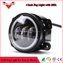 Demon eye 4inch 30W 2800LM LED Jeep fog light with halo ring DRL for jeep wrangler JK