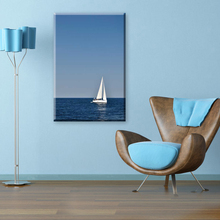 Sailboat and sea beautiful natural scenery canvas painting for living room