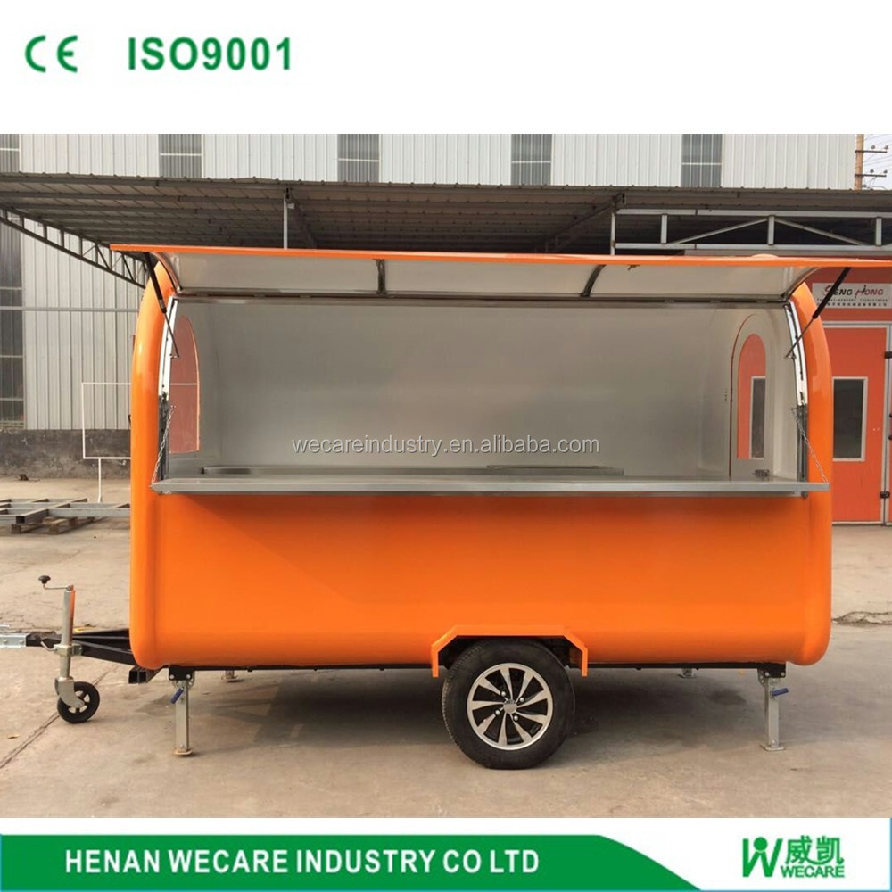 Customize food cart business franchise trailer for food
