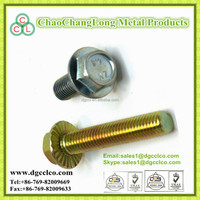 Hex allen flange head cap bolt with washer zinc plated