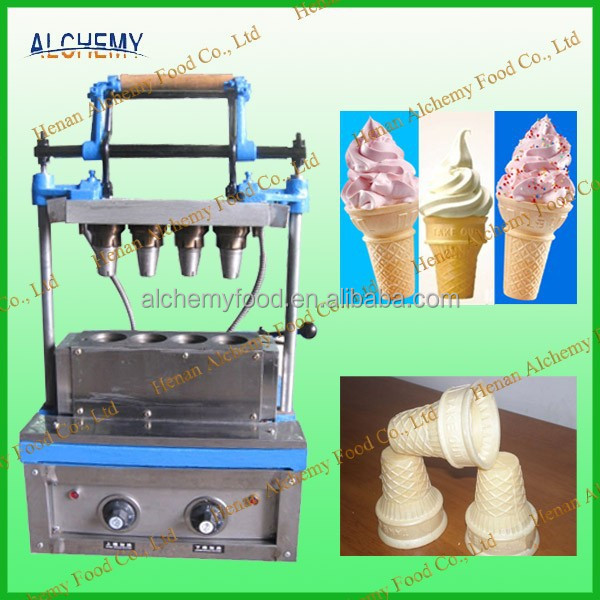 4 molds commercial ice cream cone maker price