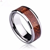 Red Realtree Inlay Silver Tungsten Ring For Men, Factory Price Wholesale Silver Tungsten Ring