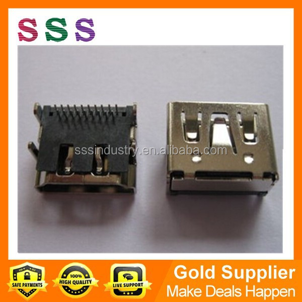Wholesale HDMI Female Jack Connector 19pin 90 Degree DIP