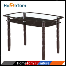 UK Market Colored Glass Dining Table Top Designs Four Chairs for Restaurant