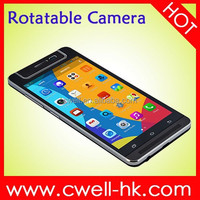 5 Inch QHD IPS Touch Screen Dual SIM Android 4.4 X-BO V5 smart phone with rotating camera