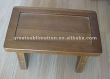 Wood taboret with tile for sublimation