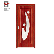High quality cheap price pvc finished waterproof bathroom door