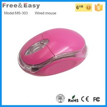 Cute computer 3D best cute wired optical mini flat mouse for laptop