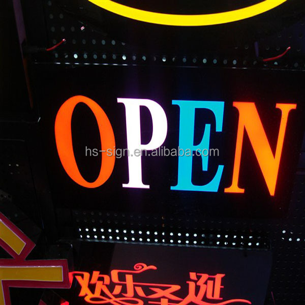 Double Sided Outdoor Led Open Sign for shop/cafe
