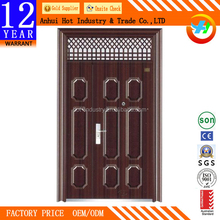 China suppliers unique home exterior steel security storm single and half door design