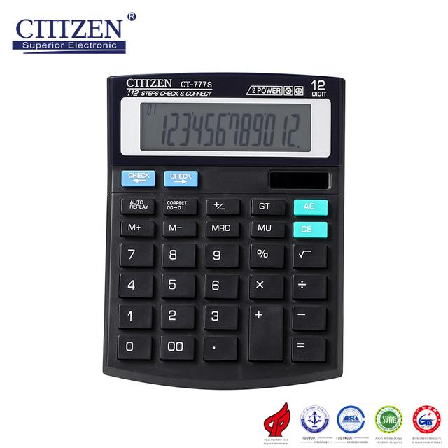 GTTTZEN most popular high quality desktop calculator 12digits with solar battery CT-777S