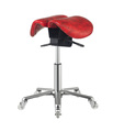 Red Hot Sale Saddle Stool Chair Styling Chairs with Durable Plastic Wheel