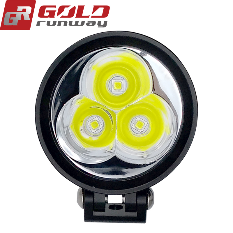 "Goldrunhui 30ix 2"" 30W Waterproof LED Work Light 2"" Headlight Motorcycle Trailer 3000LM LED Driving Light for Yacht, Truck,"