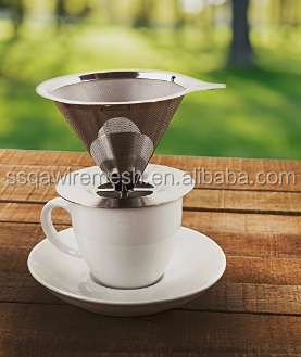 Wholesale Promotion Pour Over 18 8 Stainless Steel Coffee Filter