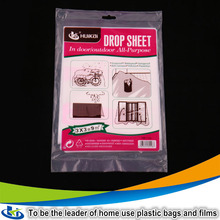 Suqian waterproof dustproof ldpe film scrap clear plastic car protection plastic bag with factory price