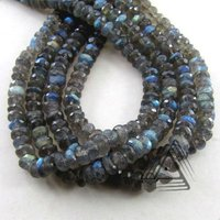 Labradorite Faceted Rondelle Shape Beads Strand, Natural Gemstone Beads Strands, Semi Precious & Precious Stone Loose Beads
