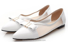 Attractive White color flat shoes for women