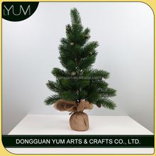 Artificial mini pine tree with cones for xmas decoration