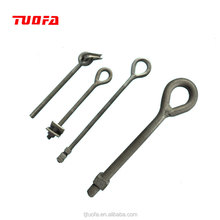 High quality hot dipped galvanized drop forged regular anchor eye bolt large eye bolts