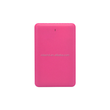 credit card mobile power bank charger 3000-4000mah for smartphones