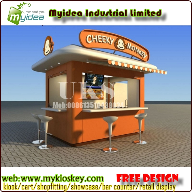 Frp street outdoor coffee kiosk and food kiosk design for for Garden kiosk designs