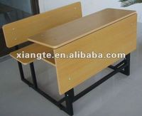 Cheap school furniture/metal and plywood used school desks for sale