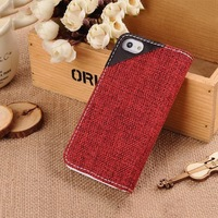 Best quality stylish leather wallet case for iphone5