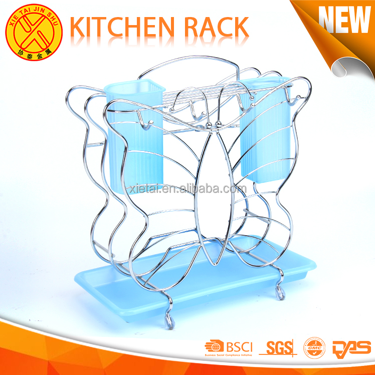 The Cheapest Price fashion kitchen cabinet shelf brackets blue metal wire shelving