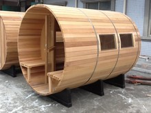 2-4 person Red Cedar outdoor barrel sauna room