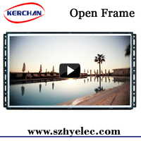 7/10/15/18.5/21.5 inch cheap open frame retail display video screens , web based open frame lcd advertising