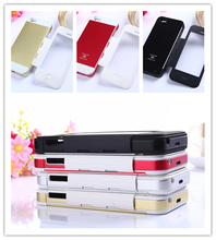 High Quality 3500mAh Charger Flip Metal Battery Case for iPhone 5S, Aluminum Back Power Case for iPhone 5G
