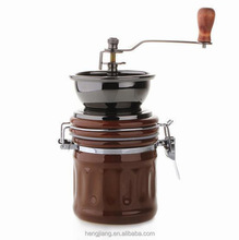 Coffee bean mill manual burr coffee beans grinder with cast iron or ceramic burr