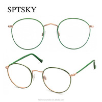 Big Round Vintage Metal Reading Eyeglasses