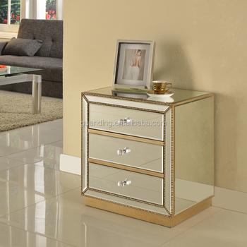 Living Room Mirrored Side Storage Cabinet Buy Storage