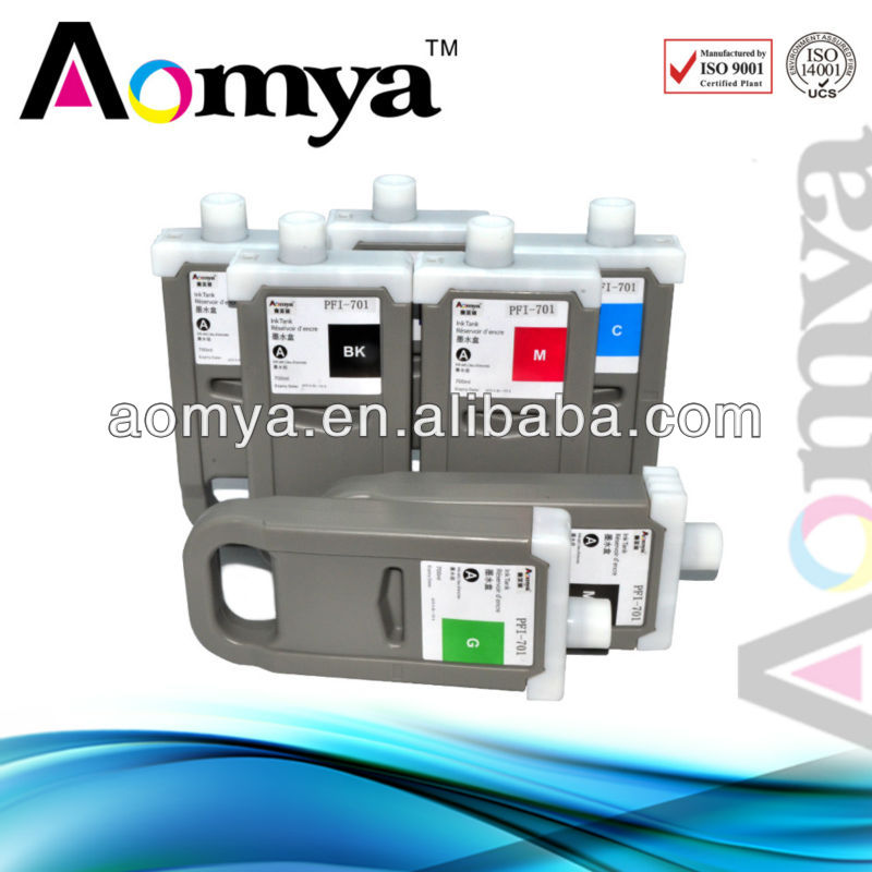Aomya PFI-704 compatible ink cartridge for canon ipf8300s for India market