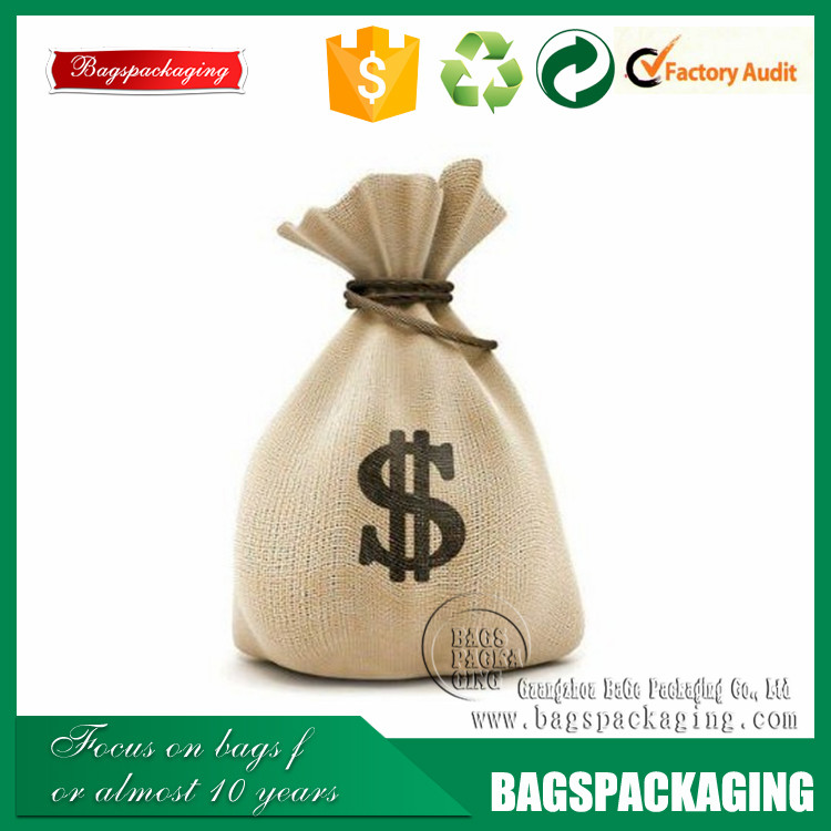 Exquisite wholesale custom printing gift wedding jute party bag