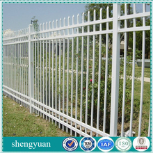 White PVC Coated Ornamental Galvanized Steel Picket Fence