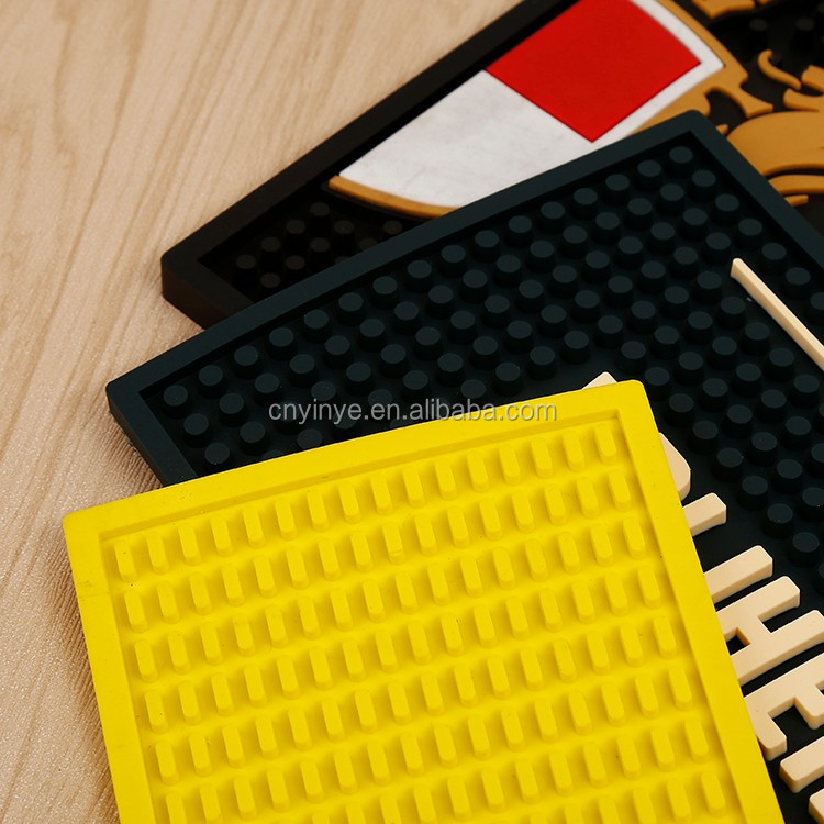 Anti Slip rubber bar mat,PVC bar runner mat, embossed beer bar shaker mat